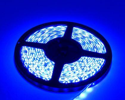 FITA DE LED ADESIVA AZUL 5m 3528 IP65 (À Prova D'Água) com FONTE