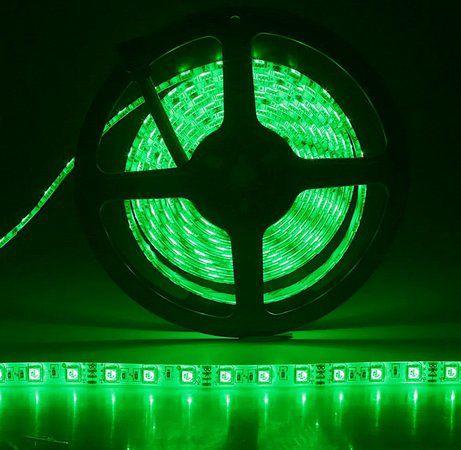 FITA DE LED ADESIVA VERDE 5m 3528 IP65 (À Prova D'Água) com FONTE