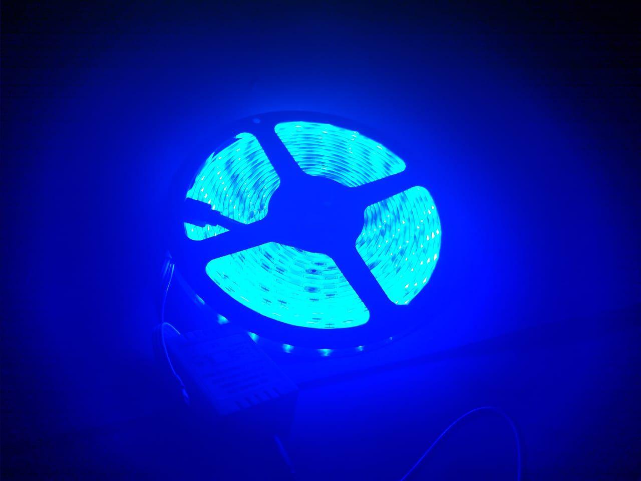 FITA DE LED RGB ADESIVA 5m 3528 IP65 (À Prova D'Água) c/ FONTE