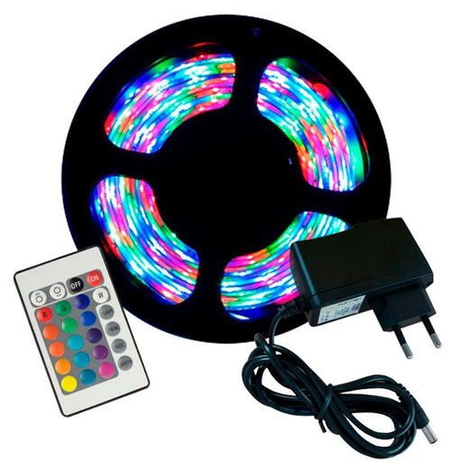 FITA DE LED RGB ADESIVA 5m 5050 IP65 (À Prova D'Água)  + FONTE