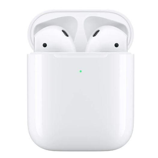 Fone Airpods apple bluetooth com estojo de recarga sem fio 1° Linha