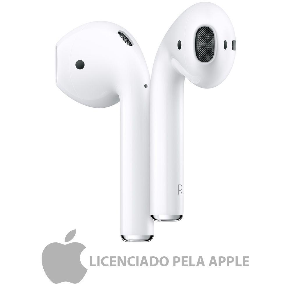 Fone Airpods apple bluetooth com estojo de recarga sem fio licenciado pela apple + brinde luxo