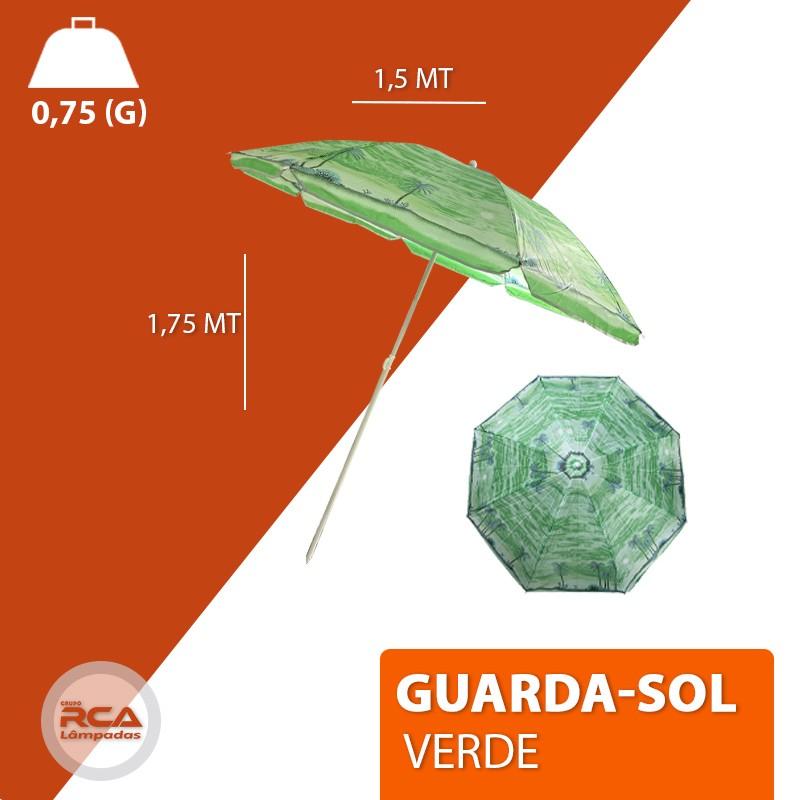 Guarda Sol Medida 1,70 Metros Poliéster