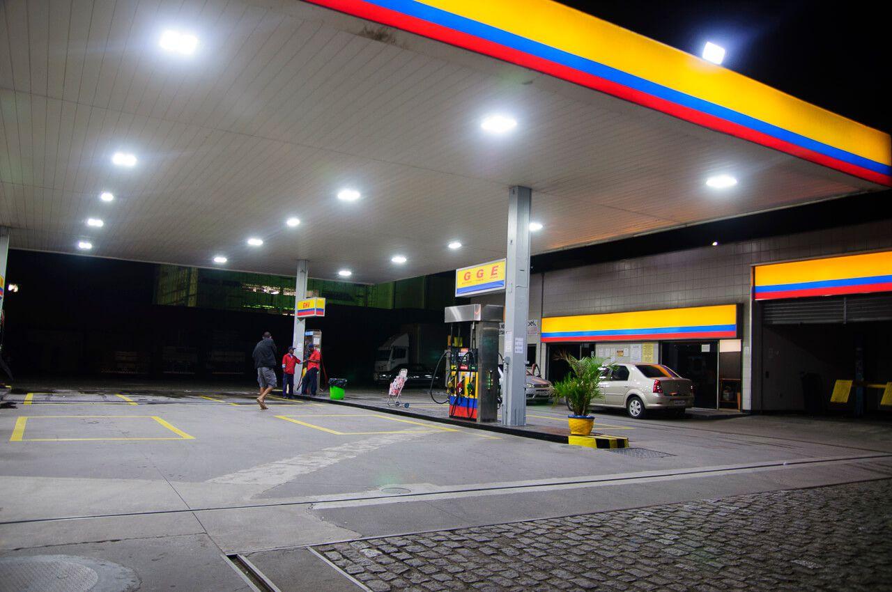 KIT 10 Luminárias de Posto de Combustível 1 módulo 80W 9.000 Lúmens Branco Frio (Modelo 2019)