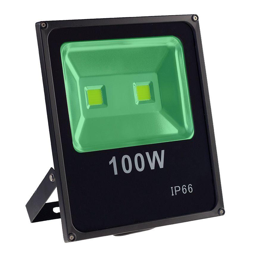 Kit 10 Refletores 100w Super Led Holofote Bivolt Verde
