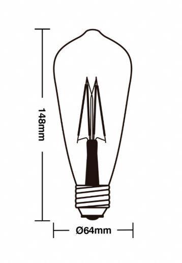 Kit 15 Lâmpadas Retrô Vintage ST64 Filamento de Led 4W Bivolt E27