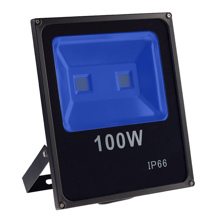 KIT 2 REFLETORES 100W SUPER LED HOLOFOTE BIVOLT  AZUL