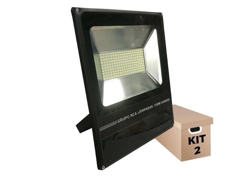 Kit 2 Refletores de Led 150w Led Cob smd  6500k (Tecnologia Samsung)