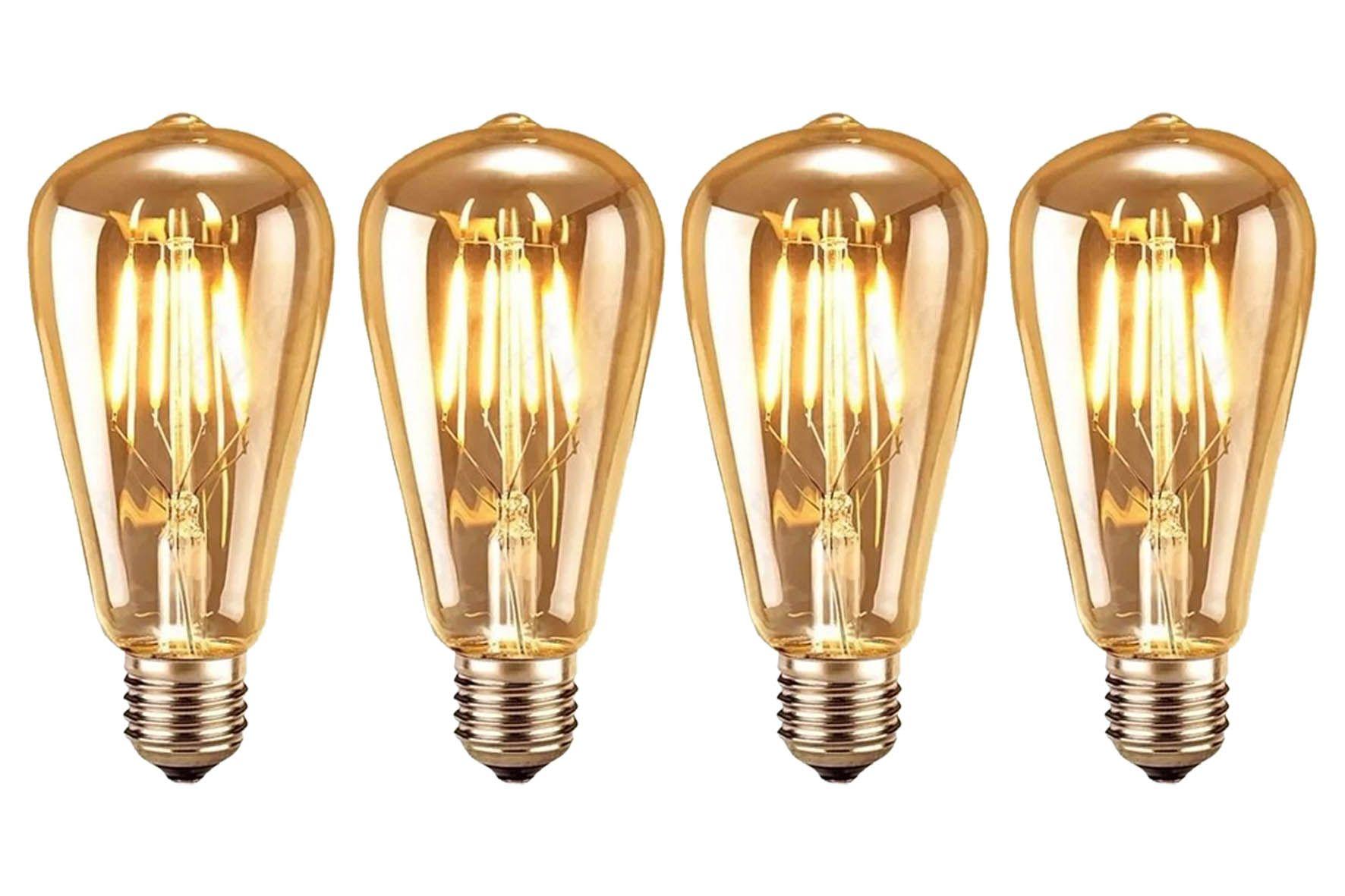 Kit 4 Lâmpadas 4w St58/e27 - Bulbo - Filamento De Carbono
