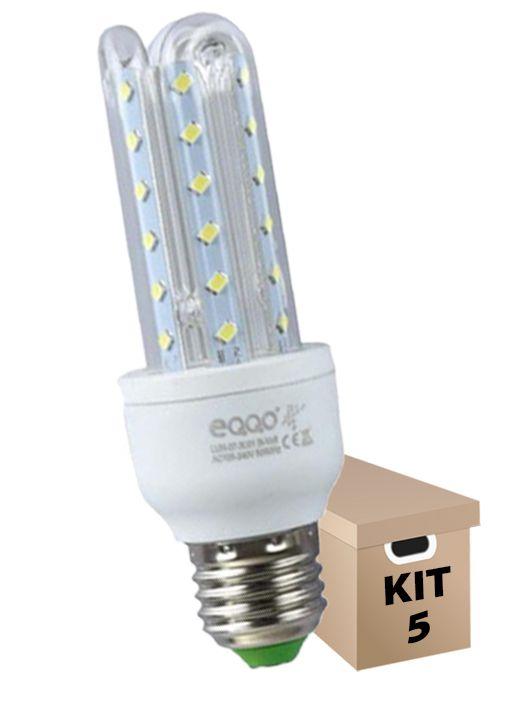 Kit 5 Lâmpadas de Led 3U 7w Milho Super Led Branca