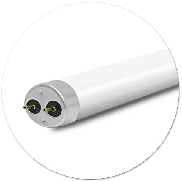 Kit 5 Lâmpadas de led Tubular T8 9w 60cm Branco Frio 6500k Leitosa