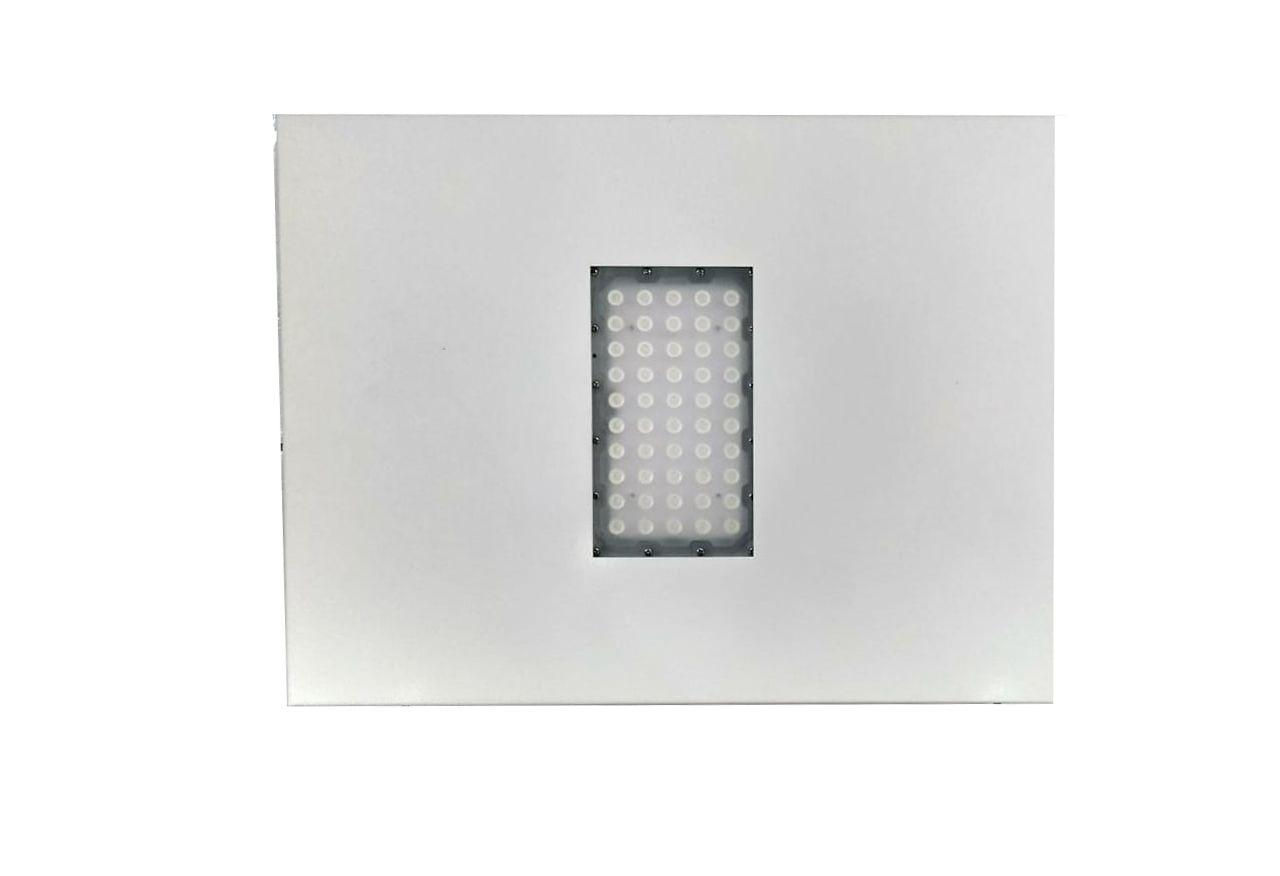 KIT 5 Luminárias de Posto de Combustível 1 módulo 80W 9.000 Lúmens Branco Frio (Modelo 2019)
