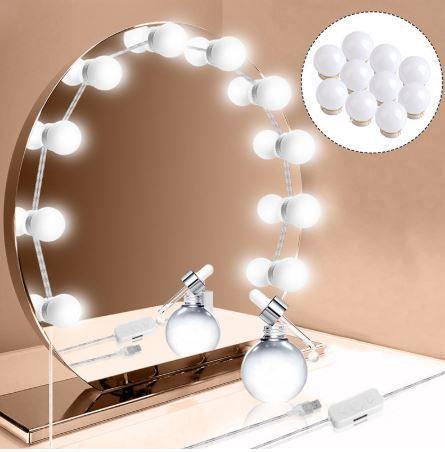 Kit Luz Camarim Maquiagem 10 Lâmpadas Leds Fotos Make