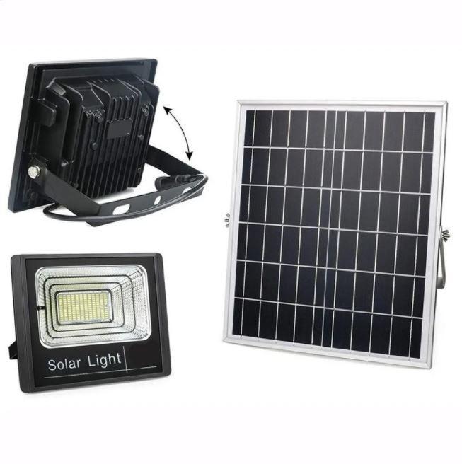Kit Refletor Led 400w IP66 (GOLD) Solar Branco frio + Painel solar 400w