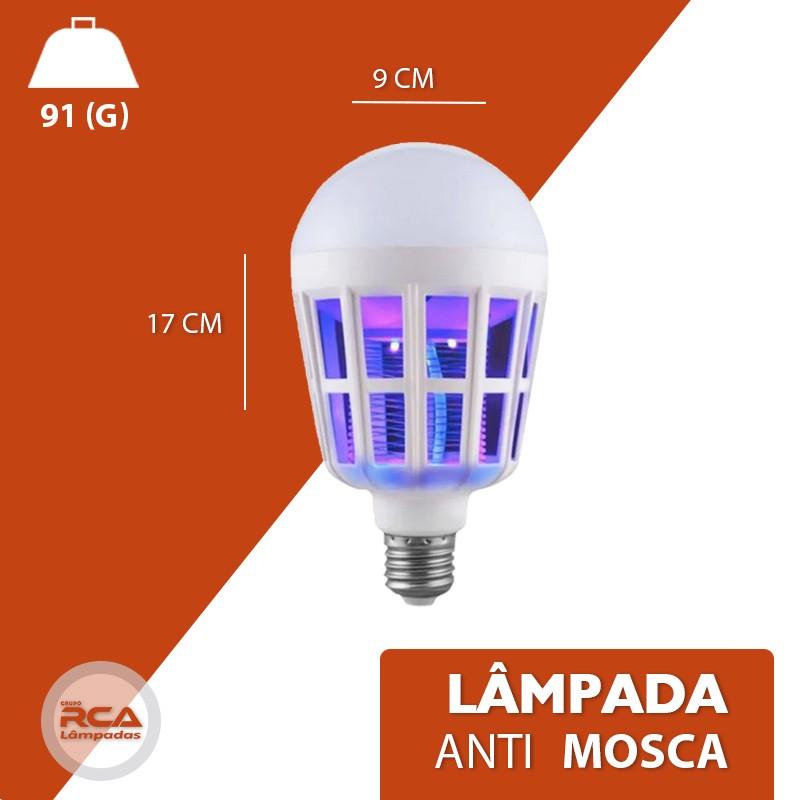 Lâmpada Anti  Mosquito E27 15w Killer Lamp Light Bulbo 2 Modos Uv E Luz