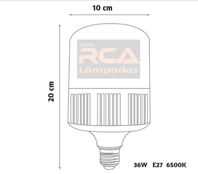 Lâmpada Bulbo LED 36w Alta Potência E27 Branco Frio 6500K