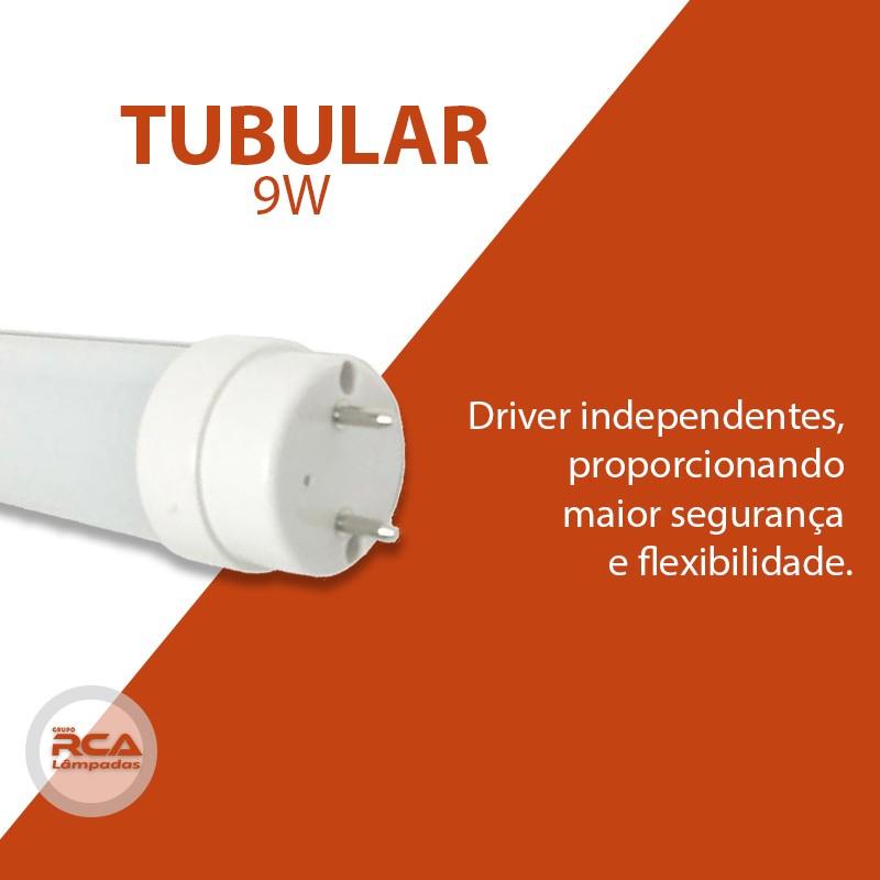 Lâmpada De Led Tubular T8 9w 60cm Branco Frio 6500k Leitosa