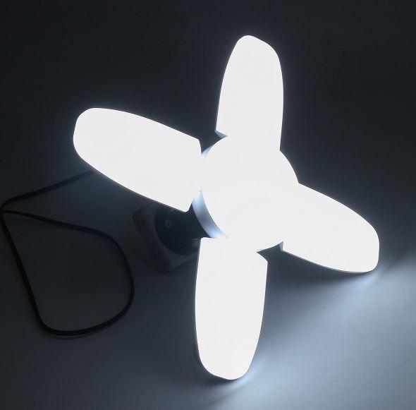 Luminária deformável Lâmpada led AC85-265V 60W Branco Frio Bivolt