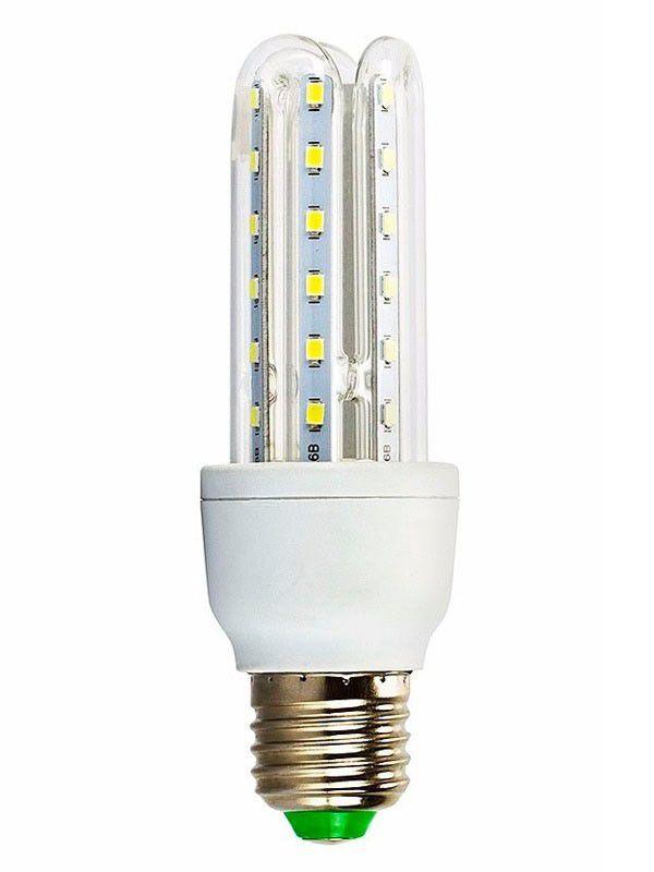 Lâmpada Eletrônica de Led 3U E27 7w Milho Super Led Branca