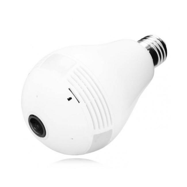 Lâmpada Câmera Ip Led Wifi Hd Panorâmica Celular