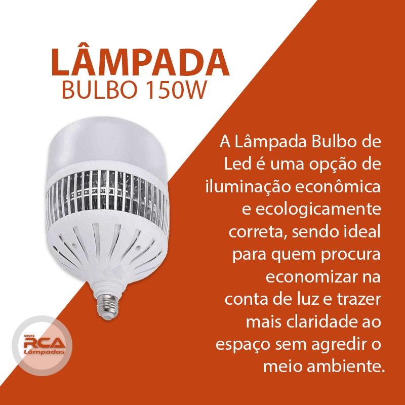 Lâmpada Led Bulbo 150w Base E27 Econômica Bivolt