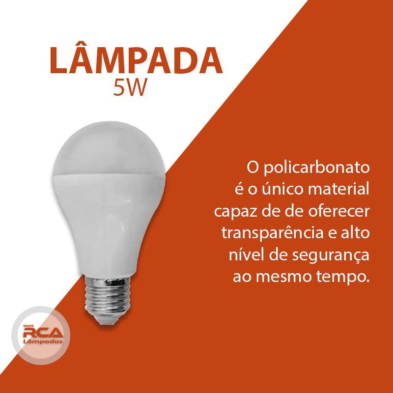 Lâmpada L&D Led  Bulbo a60 5w / 6w Bivolt e27 6500k - com selo Inmetro