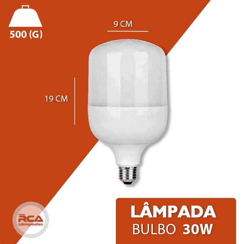 Lâmpada LED Super Bulbo 30w E27 Bivolt 6500K Branco Frio