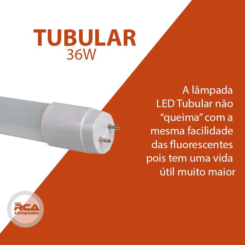 Lâmpada LED Tubular HO 36w 240cm Branco Frio Leitosa