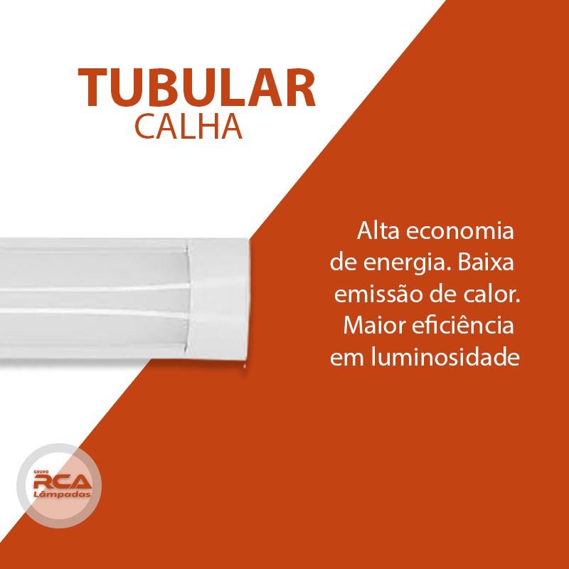 Lâmpada Led Linear com Calha 80W 240cm Slim Bivolt Leitosa