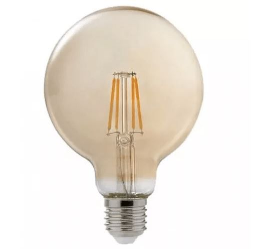 Lâmpada Retrô Filamento Led Vintage G125 4w e27 Quente Bivolt
