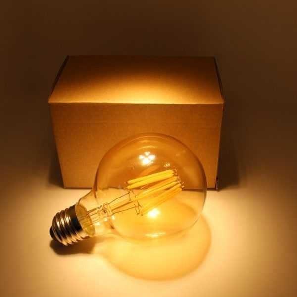 Lâmpada E27 Retrô Filamento Led Vintage G95 4w Quente Bivolt