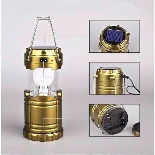 Lanterna Lampião Retrátil 6+1 LED Recarregável com USB QY-5800T - Bivolt