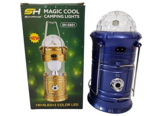Lanterna Luminária Lampião 3em1 Magic Cool Led Giratória Sh-5801