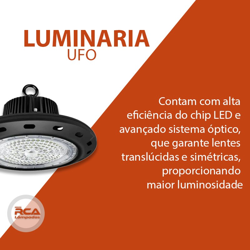 Luminária 100w Ufo Industrial Led High Bay