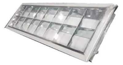 Luminária Calha dupla Embutir Comercial 120cm S/ Lâmpada