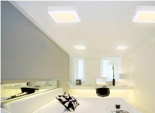 Luminária Painel Plafon Led Branco Frio Quadrado Sobrepor 25w Tecnologia Siemens