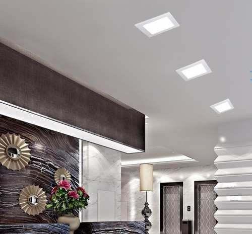 Plafon LED Luminária Quadrado Sobrepor 6w 12x12 Branco Frio 6000k Tecnologia Siemens