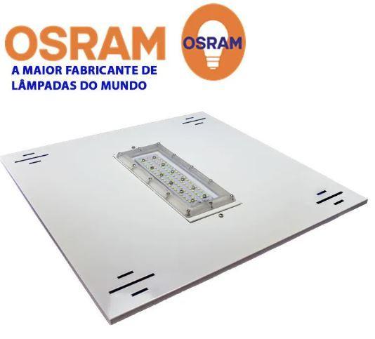 Luminária de Posto de Combustível 1 módulo 100W 13.000 Lumens Branco Frio N2 (Modelo 2019)