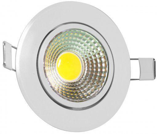 Luminária de Teto Spot Super LED 3w Branco Frio Redonda Direcionável