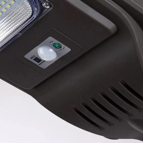Luminária Energia Solar Poste 90w Led Publica Controle Refletor Sensor Presença Holofote