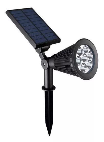 Luminária Espeto Verde de Led Jardim Solar Light Spot Outdoor 7w IP65