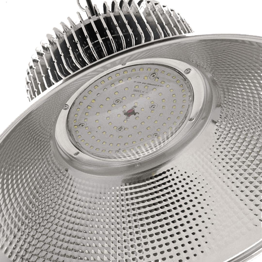 Luminaria Led Industrial High Bay 100W Branco Frio 6500K Prata - GOLD