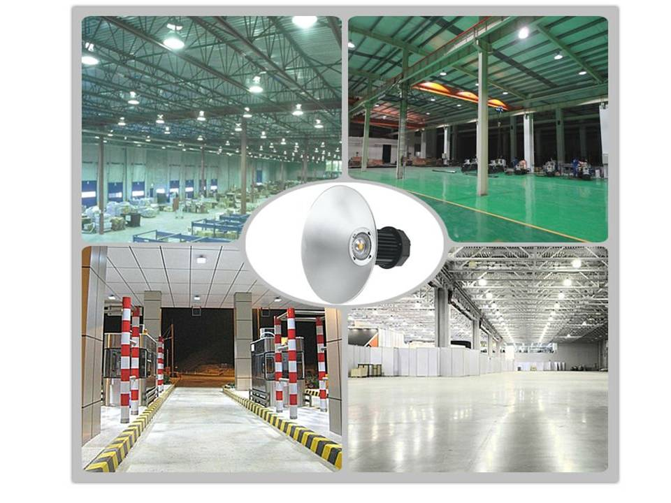 Luminaria Led Industrial High bay SMD 50w Branco Frio 6500k