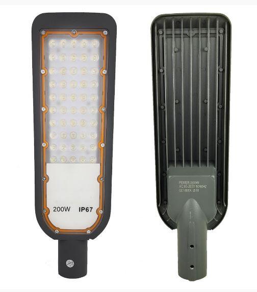 Luminária Led SMD 200w Iluminação Pública Poste Ip67 Cinza