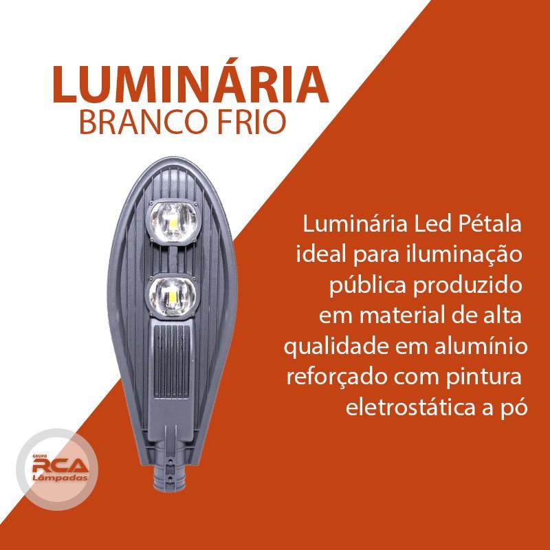 Luminária Pública de Led (GOLD) para Poste de Rua 120w Branco Frio IP68 (Chip Tecnológico)