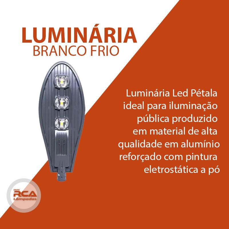 Luminária Pública de Led (GOLD) Para Poste de Rua 300w Branco Frio - Preta IP68 (Chip Tecnológico)