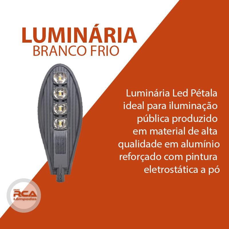 Luminária Pública de Led Para Poste de Rua 400w Branco Frio  - Preta (Chip Tecnológico)