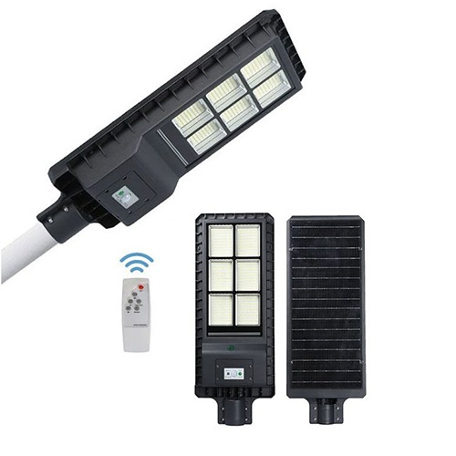 Luminária Pública de Poste Solar 180W com Sensor e Controle Remoto