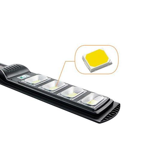 Luminária Pública de Poste Solar LED 200W Sensor com Controle Remoto - Solar Lamp