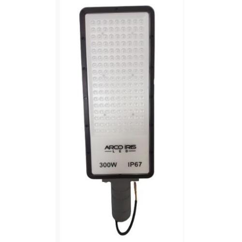 Luminária Pública Led Retangular 300W Luz Branca para Poste de Rua 6500k IP67